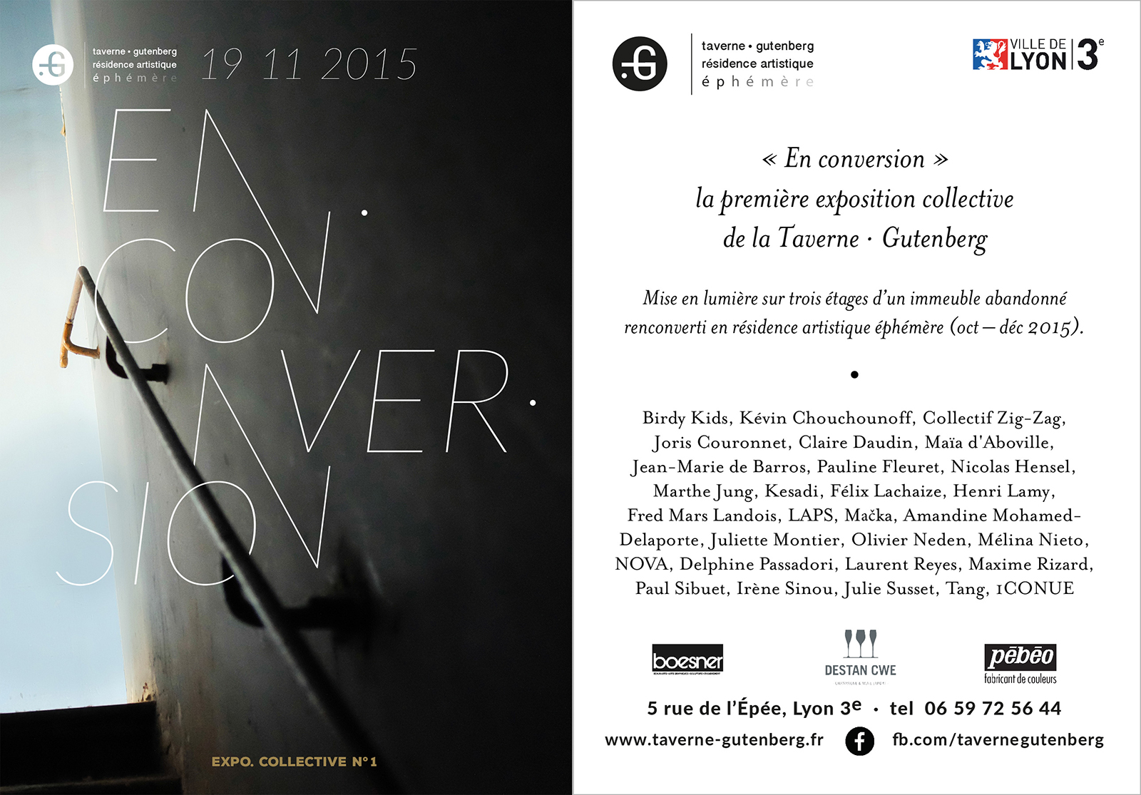 Affiche de l'exposition collective En conversion